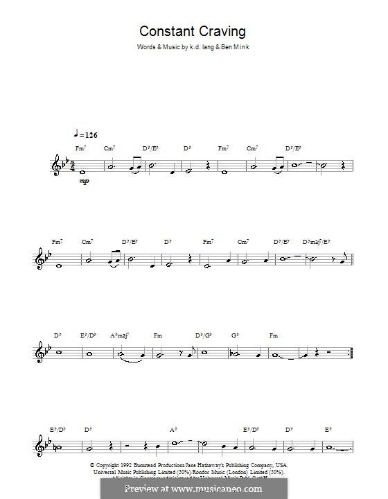 Constant Craving: Для кларнета by Ben Mink, k.d. lang
