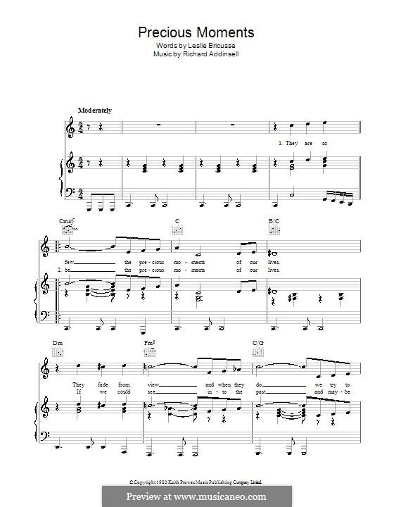 Precious Moments (Matt Monro): Для голоса и фортепиано (или гитары) by Richard Addinsell