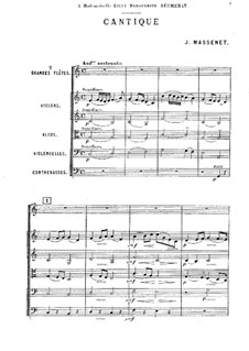 Cantique for Two Flutes and Strings: Cantique for Two Flutes and Strings by Жюль Массне