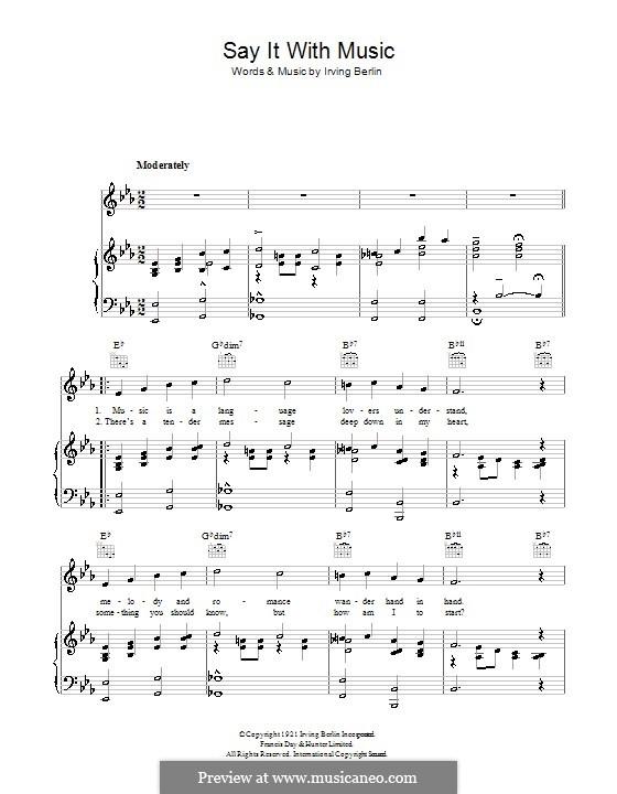 Say It with Music: Для голоса и фортепиано (или гитары) by Ирвинг Берлин