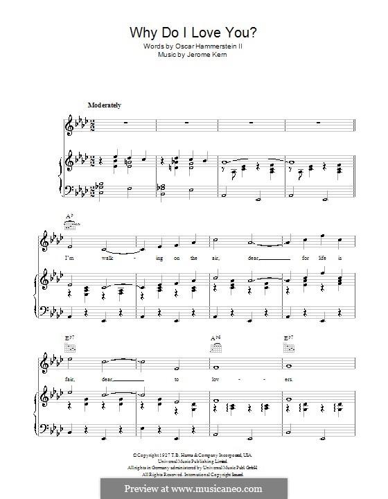 Why do I Love You?: Для голоса и фортепиано (или гитары) by Джером Керн