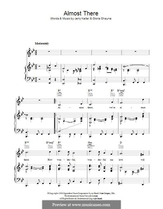 Almost There: Для голоса и фортепиано (или гитары) by Gloria Shayne, Jerry Keller