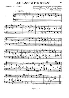 Две канцоны: Две канцоны by Винченцо Пеллегрини