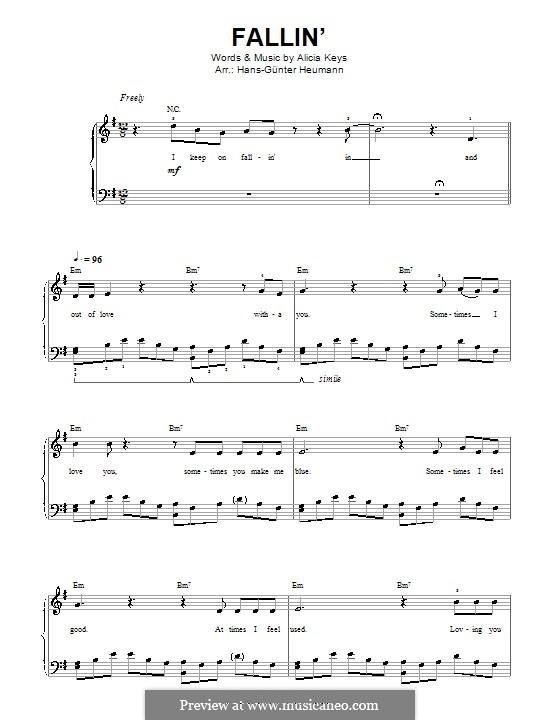 Fallin': Для голоса и фортепиано by Alicia Keys
