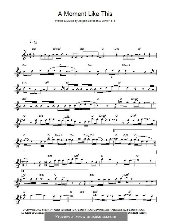 A Moment Like This: Для флейты by John Reid, Jörgen Kjell Elofsson