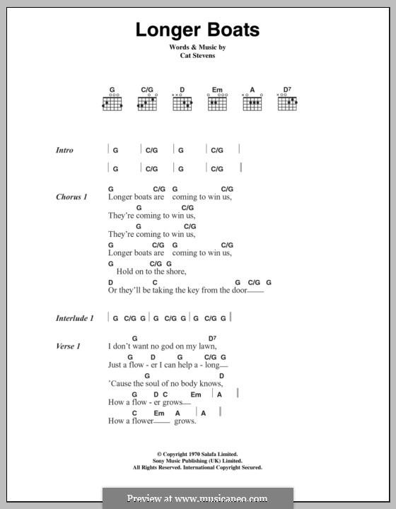 Longer Boats: Текст, аккорды by Cat Stevens