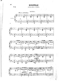 Багатель для фортепиано в четыре руки: Багатель для фортепиано в четыре руки by Эдмон де Полиньяк