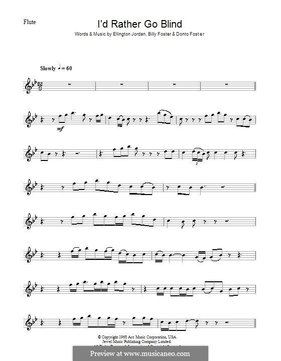 I'd Rather Go Blind (Etta James): Для флейты by Billy Foster, Donto Foster, Ellington Jordan