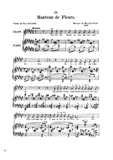 Manteau de Fleurs, M.39: Manteau de Fleurs by Морис Равель