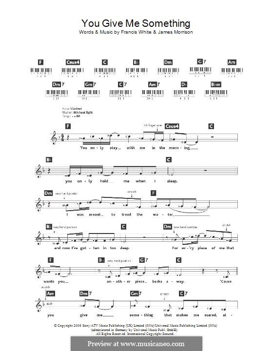 You Give Me Something: Для клавишного инструмента by Eg White, James Morrison