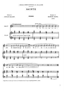 Святая, M.9: Святая by Морис Равель