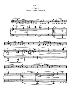 Четыре маленькие мелодии: Сборник by Эрик Сати