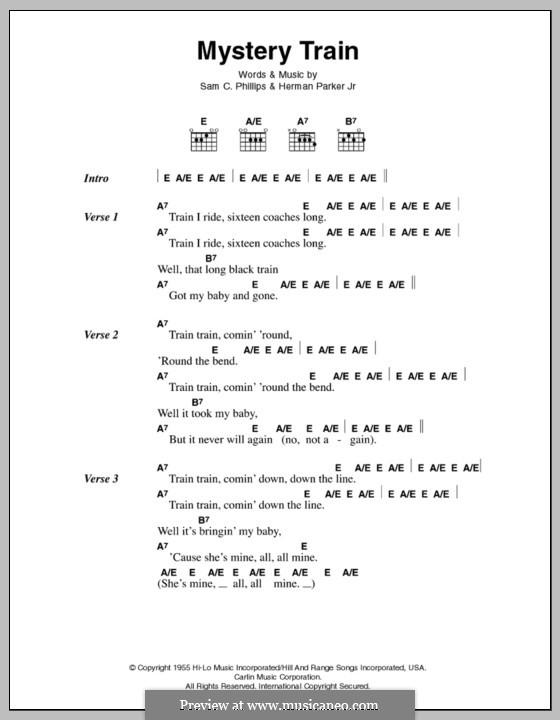 Mystery Train (Elvis Presley): Текст и аккорды by Herman Parker Jr., Sam C. Phillips