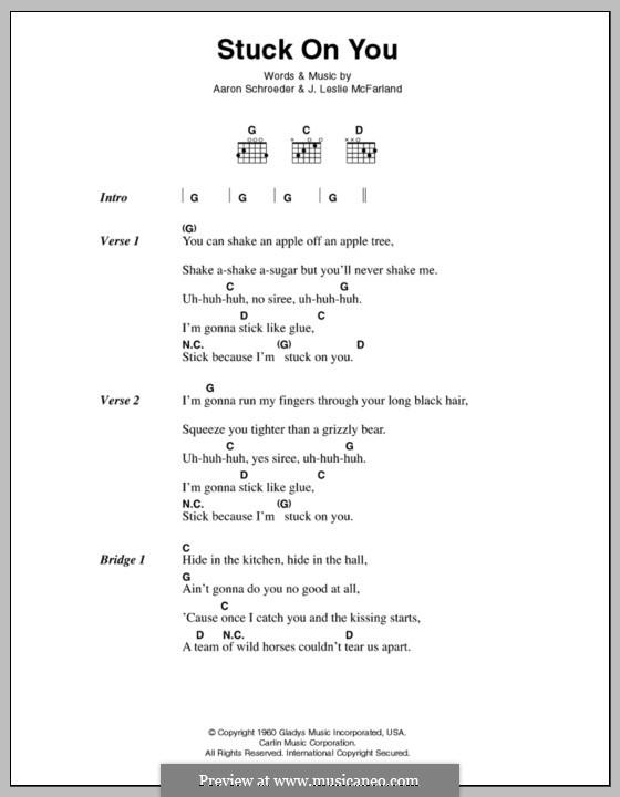 Stuck on You (Elvis Presley): Текст и аккорды by Aaron Schroeder, J. Leslie McFarland