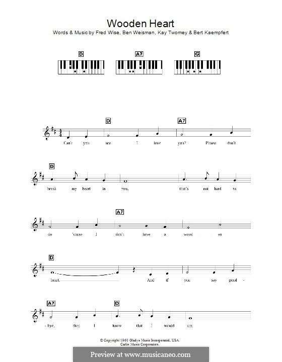 World We Knew (Over and Over): Для клавишного инструмента by Ben Weisman, Bert Kaempfert, Fred Wise, Kay Twomey