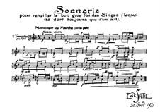 Sonnerie pour reveiller le bon gros Roi des Singes: Для фортепиано by Эрик Сати