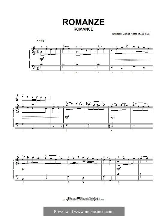 Романс для фортепиано: Романс для фортепиано by Кристиан Готлоб Нефе