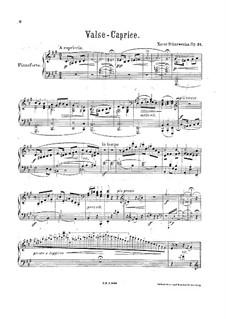 Вальс-каприс, Op.31: Вальс-каприс by Ксавьер Шарвенка