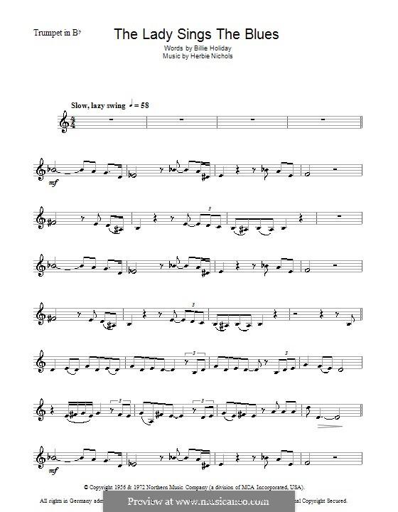 The Lady Sings the Blues (Billie Holiday): Для трубы by Herbie Nichols