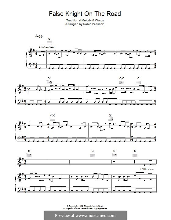 False Knight on the Road: Для голоса и фортепиано (или гитары) by folklore