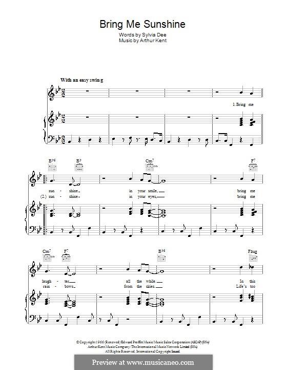 Bring Me Sunshine: Для голоса и фортепиано (или гитары) by Arthur Kent