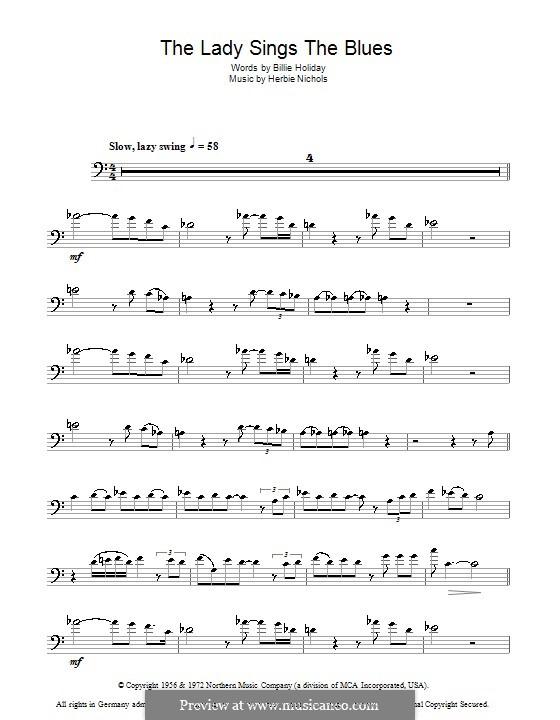 The Lady Sings the Blues (Billie Holiday): Для тромбона by Herbie Nichols