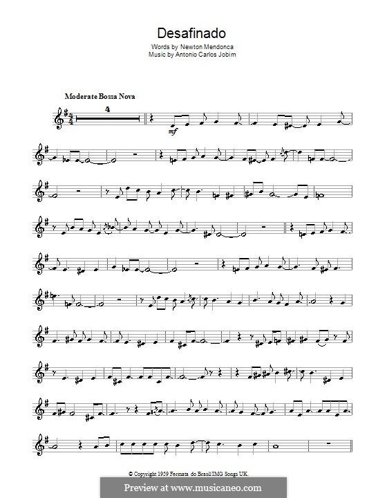 Desafinado (Slightly Out of Tune): Для кларнета by Antonio Carlos Jobim