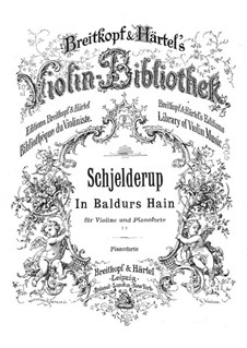 In Baldurs Hain for Violin and Piano: In Baldurs Hain for Violin and Piano by Герхард Скьелдеруп