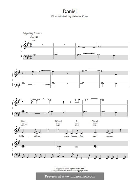 Daniel (Bat for Lashes): Для голоса и фортепиано (или гитары) by Natasha Khan