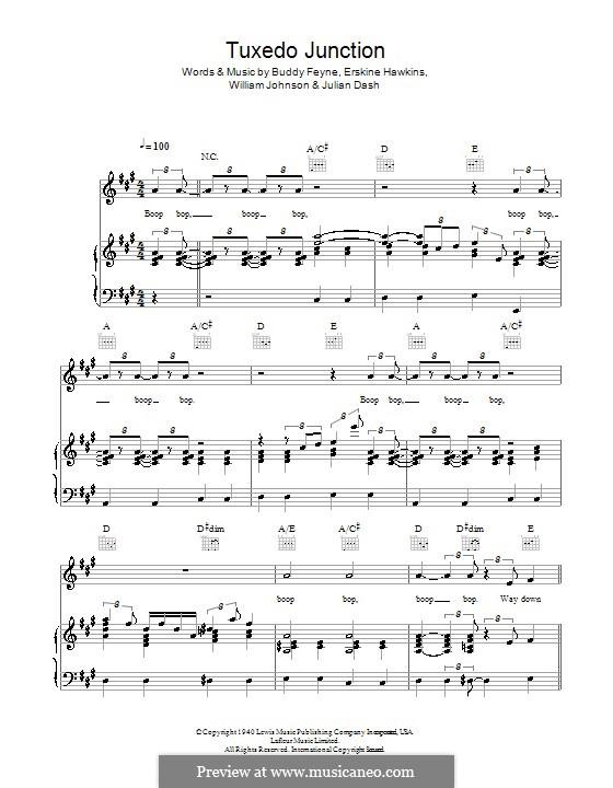 Tuxedo Junction: For voice and piano or guitar (The Manhattan Transfer) by Buddy Feyne, Erskine Hawkins, Julian Dash, William Johnson