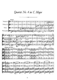 Струнный квартет No.4 до мажор, D.46: Струнный квартет No.4 до мажор by Франц Шуберт