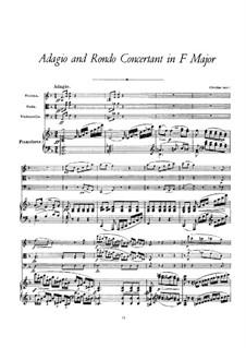 Адажио и концертное рондо для фортепианного квартета фа мажор, D.487: Партитура by Франц Шуберт