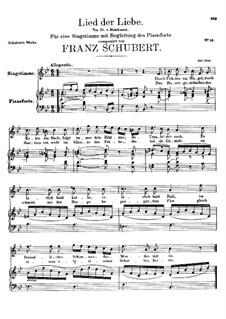 Песня о любви, D.109: Песня о любви by Франц Шуберт