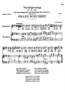 Nachtgesang (Night Song), D.119: Nachtgesang (Night Song) by Франц Шуберт
