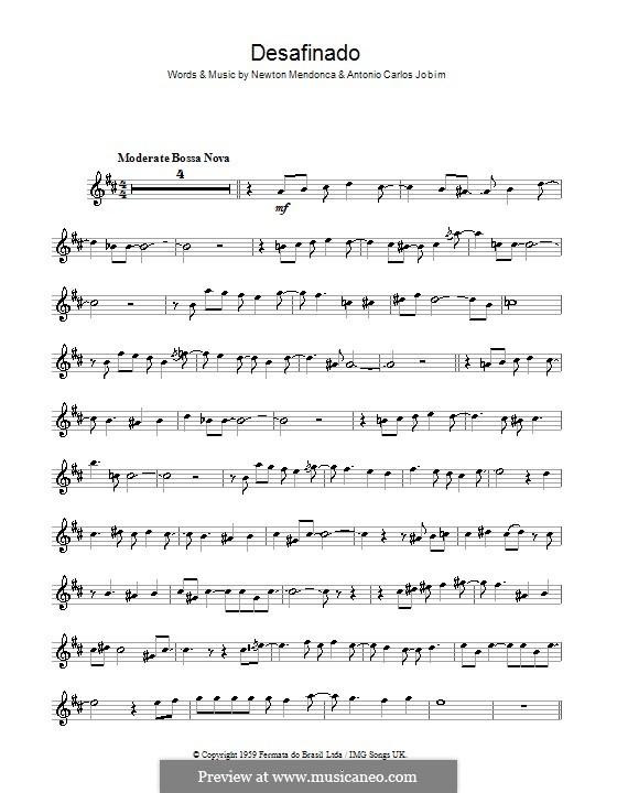 Desafinado (Slightly Out of Tune): Для саксофона by Antonio Carlos Jobim