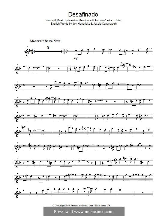 Desafinado (Slightly Out of Tune): Для флейты by Antonio Carlos Jobim