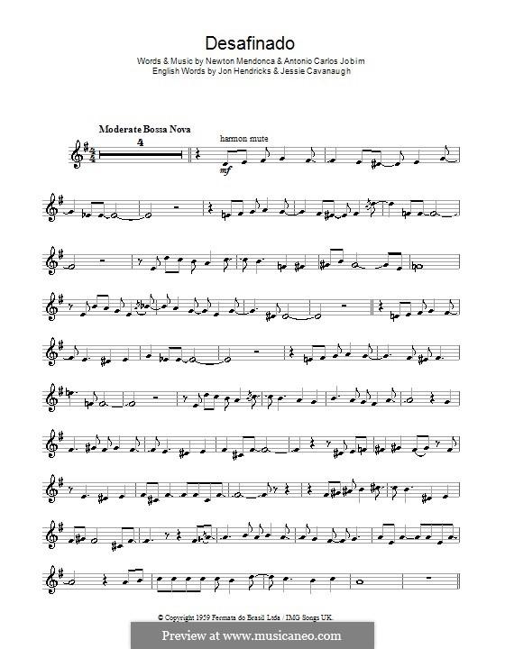 Desafinado (Slightly Out of Tune): Для трубы by Antonio Carlos Jobim