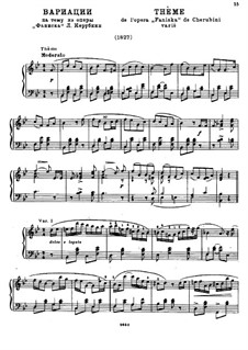 Вариации на тему из оперы 'Фаниска' Л. Керубини: Вариации на тему из оперы Л. Керубини 'Фаниска' by Михаил Глинка