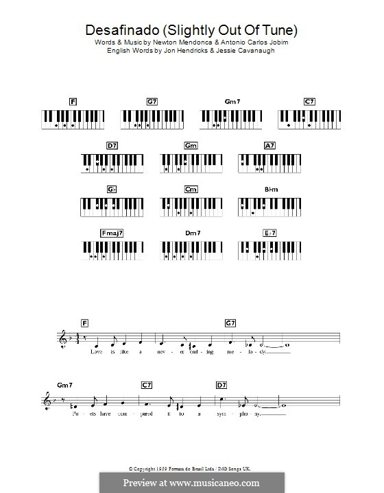 Desafinado (Slightly Out of Tune): Для клавишного инструмента by Antonio Carlos Jobim