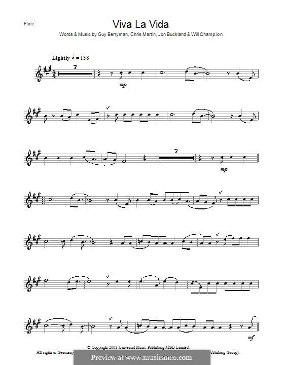 Instrumental version: Для флейты by Chris Martin, Guy Berryman, Jonny Buckland, Will Champion