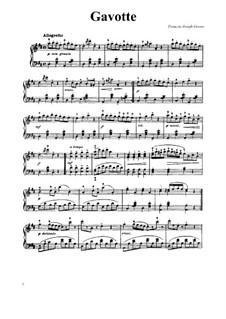 Гавот ре мажор: Для фортепиано by Франсуа Жозеф Госсек