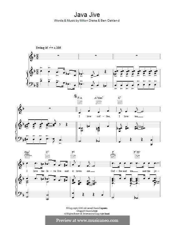 Java Jive (The Ink Spots): Для голоса и фортепиано (или гитары) by Ben Oakland, Milton Drake