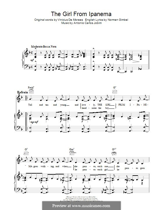 The Girl from Ipanema (Garota de Ipanema): Для голоса и фортепиано (или гитары) by Antonio Carlos Jobim