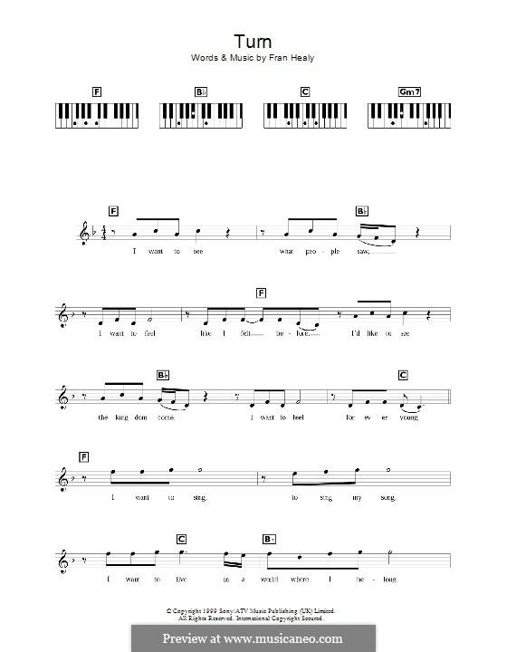 Turn (Travis): Для клавишного инструмента by Fran Healy
