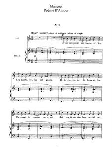 Поэма о любви: Клавир с вокальной партией by Жюль Массне