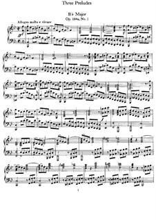 Три прелюдии, Op.104a: Сборник by Феликс Мендельсон-Бартольди