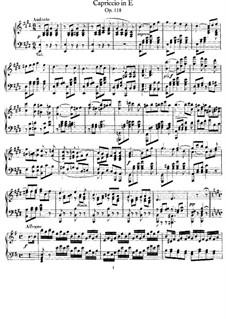 Каприччио ми мажор, Op.118: Для фортепиано by Феликс Мендельсон-Бартольди