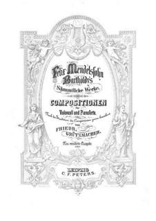 Концертные вариации для виолончели и фортепиано ре мажор, Op.17: Партитура, сольная партия by Феликс Мендельсон-Бартольди
