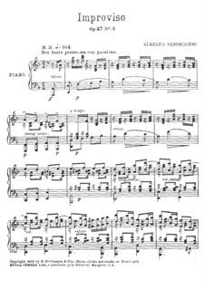 Improviso, Op.27 No.2: Improviso by Альберто Непомусено