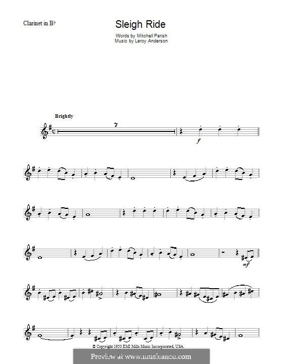 Sleigh Ride: Для кларнета by Лерой Андерсон